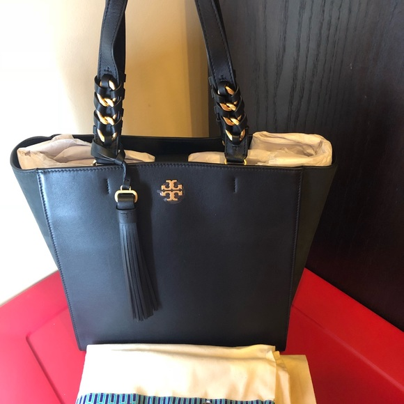 0ec88c2e69531 Tory Burch Black Brooke Tote